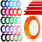 22 Meters Satin Ribbon in Many Colours in Rolls for Crafts - 6, 10, 15, 25, 38mm