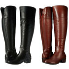 Vince Camuto Womens Bendra Side Zip Pull On Casual Knee High Tall Riding Boots