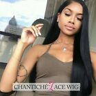 Women's Full Lace Human Hair Lace Front Silky Straight Wigs Indian Remy Lace Wig