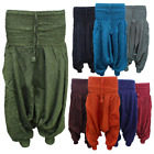 Womens Harem Trousers Pants Cotton yoga Aladdin Hippie Casual baggy Ali baba