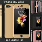 Hybrid 360°Shockproof Case Tempered Glass Cover For Apple iPhone 7 6 6s 5 Plus
