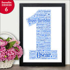 Personalised 1st Birthday Present - Personalised First Birthday Print Gift