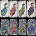Bling 3D Peacock Transparent TPU Soft Ultra Thin Back Case Cover Skin #5 M13