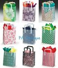 *U CHOOSE* 10x8x4 Medium Clear Frosted Plastic Tote Retail Wedding GIFT BAGS