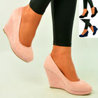 Brand New Womens Ladies Wedges High Heel Platforms Pumps Party Shoes Size Uk 3-8
