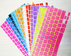 """Colored German Letter Keyboard Protector for Macbook 13 15 17"""" (EU/UK Layout)"""
