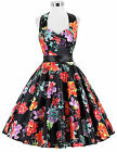 Spring Vintage Style 40s 50s 60s Housewife Retro Pinup Formal EVENING Prom Dress
