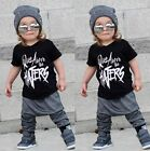 Fashion Toddler Kids Boy Short Sleeve Tops T-shirt Pants Outfits Set Clothes