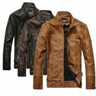 2017 New Fashion Hot Men's Motorcycle Leather Jackets Washed Leather Coat