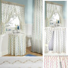 Waves Embroidered VOILE Bathroom Shower Curtains, sink skirts, window curtains