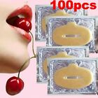 100Pcs Gold Crystal Collagen Lip Mask Patch Anti Ageing Wrinkle Moisturising Hot