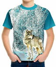 Wolf Boys Kid Youth T-Shirts Tee Age 3-13 ael40119