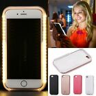 Bright Night Light UP Flash LED Selfie Back Cover Case For iPhone 6 6S 7 Plus