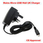 Mains Micro USB Quality UK Socket 3 Pin Mains Mobile Phone Charger For Alcatel