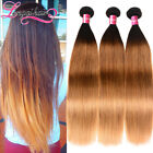 1-3 Bundles Indian Straight Human Hair Weave Indian Ombre Hair Extensions Weft