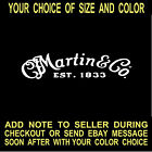 Martin Guitars Vinyl Decal Car Truck Window Laptop Mirror Sticker