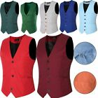 New Men's Formal Business Casual Dress Vest Suit Slim Fit Tuxedo Waistcoat Coat