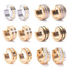 New Fashion Men Women Crystal Rhinestone Stainless Steel Stud Earrings Gift