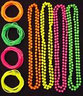 NEW NEON BEADS NECKLACE &12 GUMMY BANGLES 80s FANCY DRESS DANCE PARTY PINK GREEN