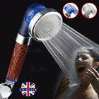 High Turbo Pressure Shower Head 3 Function Filtered High Pressure Water Saving