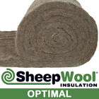 100% SHEEPWOOL INSULATION 50MM OPTIMAL 10.26M2 ROLL