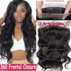 360 Lace Band Frontal Closure Unprocessed Brazilian Human Hair Straight/Wavy F33
