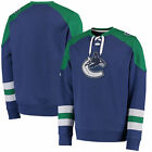 NHL Sweater VANCOUVER CANUCKS Pullover Crewneck Centre Lace-Up Sweatshirt