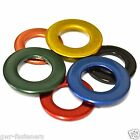 M5 BRASS STAINLESS STEEL Coloured Form A Flat Washers - GWR Colourfast® - Coated