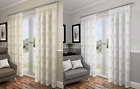 LOTUS SHEER LOOK READY MADE FULLY LINED VOILE CURTAINS PLAIN PENCIL PLEAT TOP