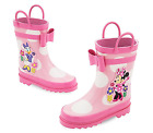 Disney Store Minnie Mouse PINK Rain Boots Girls Polka Dot...