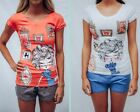 Pyjamas Ladies Summer 2pc Pjs Short Set (7702) Picture Frames Sz 8 10 12 14 16