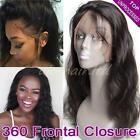7A Unprocessed 360 Lace Band Frontal Closure Peruvian Virgin Human Hair US F45
