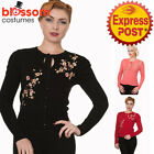 RKN26 Banned 50s Vintage Pin Up Last Dance Floral Cardigan Top Retro Rockabilly