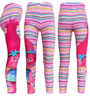 Girls leggings Trolls Pencil Pants Trousers Kids size 4-9 AU stock stripe pink