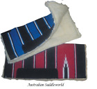 Western Stock Saddle Thick Synthetic Wool Pad Blanket Navajo with Suede Insert