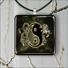DRAGON AND TIGER YIN AND YANG PENDANT NECKLACE 3 SIZES CHOICE -dnt6Z