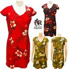 Floral Flower Printed Summer Dress in 3 colours - size 6 to 14