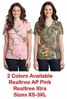 Russell Outdoor Realtree Camo Ladies 100% Cotton V-Neck T-Shirt Womens Tee XS-3X