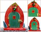Hand Painted/Decorated Wooden Christmas Elf Doors