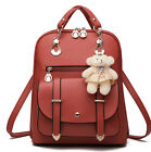 Hot Women Girl Leather School Shoulder Bag Backpack Travel Rucksack Purse New