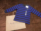 NWT--Boys Long Sleeve Polo Shirts-Black/Blue Striped--Sizes 5--0318-PB