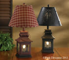Country Lantern Lamp in Red or Black 20