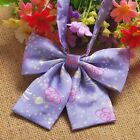 Внешний вид - Girls Japanese Preppy Bow Tie Cute Stars Embroidered Cravat for JK Uniform
