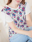 Flowers Women Petal Sleeve Side Vent Tee T-shirt b119 acq04435