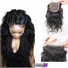 "Brazilian body  Wave Remy Human Hair Top Lace Closure Baby Hair 4""X4"""