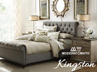 Restoration Chesterfield English Industrial Tufting NailHeads Hardware King Bed