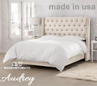 Horchow Delamore Style Restoration Chesterfield Tufted Hardware Audrey Full Bed