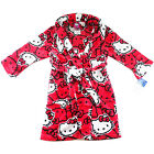 kids Girls HELLO KITTY winter dressing gown robe pyjama pjs size 4-10 sleepwear