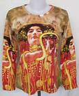 Gustav Klimt Hygieia ART Printed Women Long Sleeve T-Shirt TOP Sz S-M LS4556