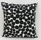 SPOTTED SCATTER CUSHION COVERS TRENDY BLACK  AND WHITE SPOTS SCATTER COVER